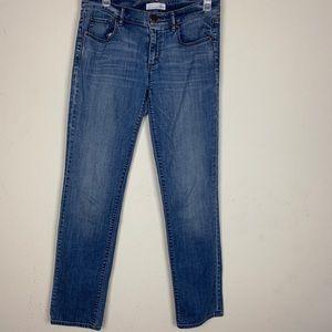 Loft- Medium Wash Straight Leg Jeans size 27